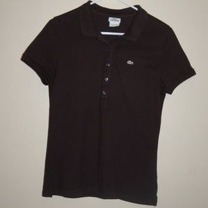 LaCoste Ladies 5 Button Polo Shirt Black